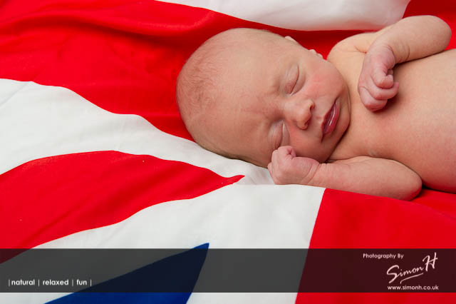 Cheshire Baby Photographer - Union Flag Baby