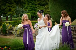 Bridal Party Portrait, Motram Hall, Wilmslow, Cheshire