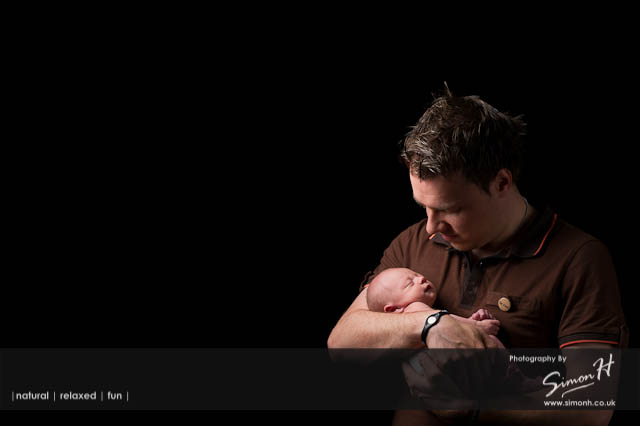 Cheshire Baby Photographer - Father & Baby