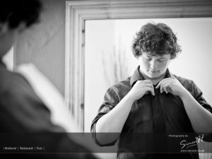 Dan preparing for his High School Prom Photography