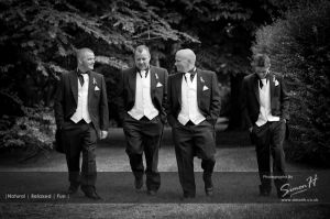 Groomsmen Peover Golf Club Wedding