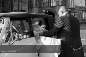 Bolton School Wedding Photography Bridal Car