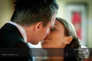 Bolton School Wedding Photography First Kiss