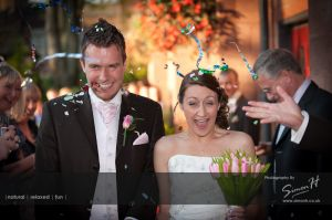 Bolton School Wedding Photography Confetti