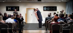 Cheshire Wedding Photography - First Kiss