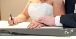 Cheshire Wedding Photography - Signing the Register