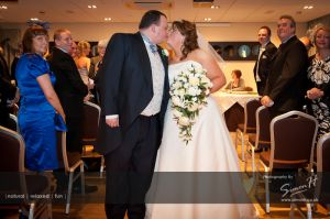 Cheshire Wedding Photography - Walking up the aisle